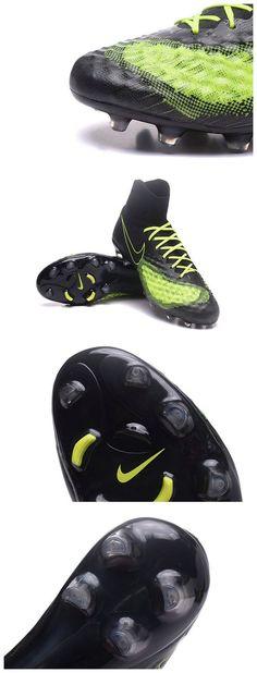 wholesale dealer 20dc7 5eafb Nike Magista Obra 2 FG Men s Football Shoes Black Yellow