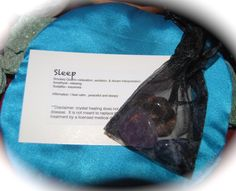 Crystal Care Kit for Sleeping Issues; amethyst, sodalite and smokey quartz tumbled stones by GladStonesNSage on Etsy