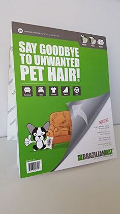 BrazilianMat Pet Hair Removal  Perfect for cleaning furniture, the car, bedding or anything else covered in pet hair!! 50 adhesive sheets in notepad form ** Click image to review more details.