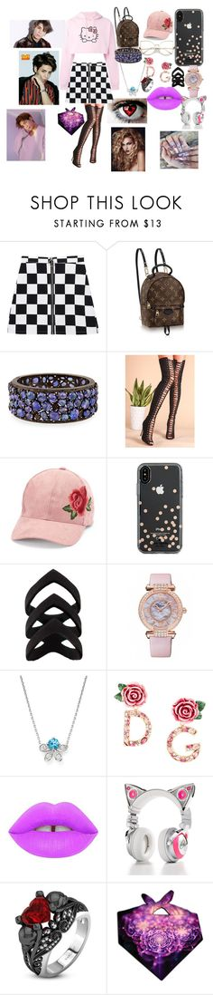 """""""SHINee Jonghyun R.I.P"""" by btsloveforlife on Polyvore featuring Hello Kitty, Bavna, David & Young, Kate Spade, Chopard, Bloomingdale's, Dolce&Gabbana, Lime Crime, Brookstone and Lagu"""
