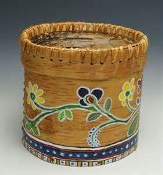 Gina Brooks Painted Birch Bark Basket - Home & Away Gallery