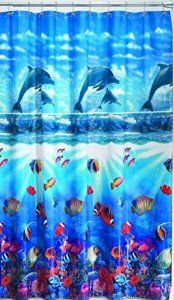 Dolphin Cove Vinyl Shower Curtain | Foregather.net