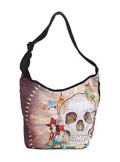 Disney Peter Pan Skull Rock Hobo BagDisney Peter Pan Skull Rock Hobo Bag,