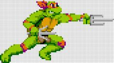TMNT Raphael - Oversized Perler Pattern by Beave - Kandi Photos on Kandi Patterns