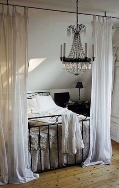 like the bed placement wi. - Lovely Shabby Bedroom… like the bed placement wi… – Shabby Bedroom, Home Bedroom, Upstairs Bedroom, Attic Bathroom, Bedroom Romantic, Attic Bedroom Decor, Attic Bedroom Designs, Royal Bedroom, Bedroom Neutral
