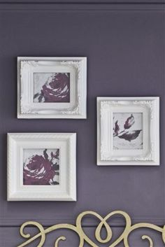 Set Of 3 Ornate Mini Frames