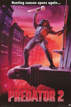 Sci-Fi * Predator 2 * Arnold Schwarzenegger Style B Movie Poster 1990 Best Movie Posters, Horror Movie Posters, Movie Poster Art, Horror Movies, Fantasy Movies, Sci Fi Movies, Action Movies, 1990 Movies, Predator Movie