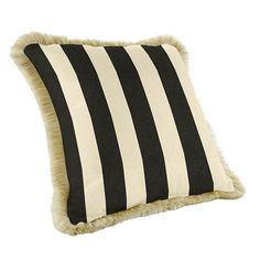 16 Inch Squared Custom Fringed Pillow: All of our outdoor pillows are covered in fade resistant Sunbrella or acrylic easy care fabric for lasting wear. Specify pillow fabric and fringe color. Best Pillow, Perfect Pillow, Sunbrella Pillows, Cushions, Wicker Porch Furniture, Outdoor Furniture, Outdoor Decor, Cute Pillows, Decor Pillows