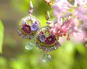 laughing through the lilacs - part ii - playful vintage embroidery inspired earrings