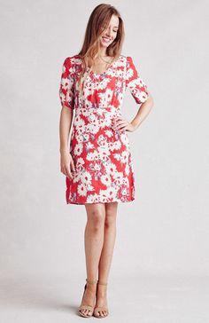 Paper Crown petal sleeved mini dress in navy designed by Lauren Conrad.