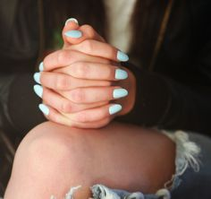 Image result for νυχια μπλε παστελ
