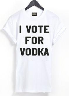 I VOTE FOR VODKA T-SHIRT  ♀♂ von Gossengold auf DaWanda.com