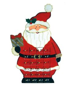Loving this Red Santa Advent Calendar on #zulily! #zulilyfinds