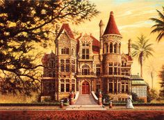 Bishop's Palace Gresham Castle Galveston Victorian Queen Anne SIGNED by Souders
