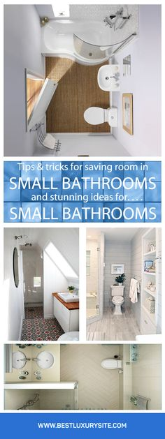 Tips&Trick for saving space in small bathrooms and stunning ideas for small bathrooms
