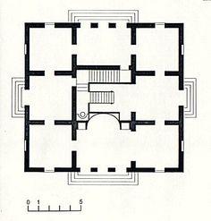 Schinkel Pavilion, ground floor plan.