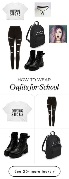 """Grunge"" by nevaehmiller620 on Polyvore featuring Topshop"