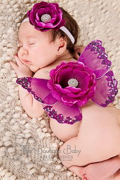 Baby Butterfly Wings and Headband Set Luxe Newborn Baby