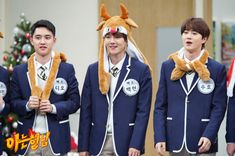 D.O, Baekhyun, Suho - 181225 JTBC Knowing Brothers website update Kyungsoo, Chanyeol, Exo Variety Shows, Exo Dear Happiness, Childish Behavior, Types Of Boyfriends, Exo Couple, Xiuchen, Exo Ot12