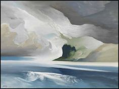 """""""Winter Point,"""" Toni (Norman) Onley, oil on board, 30 x 40"""", private collection."""