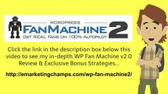 WP Fan Machine 2.0 Review - https://www.youtube.com/watch?v=IyE3KgqUnXo - WP Fan Machine 2 Bonus - Creating reports that are free as ways to call attention to affiliate advertising that you would like to highlight is a practice that is common. They key will be to develop a report that is totally free you could very quickly disseminate to big groups of men and women; and that individuals need to read.