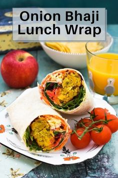 The most amazing lunch box wrap to take to school, college, work or for a picnic. Spicy onion bhaji and colourful vegetables. #onionbhajirecipe #wraps #wrapsforlunch #wrapsrecipes #sandwiches #lunchboxideas #lunchboxrecipes #lunchbox Vegan Picnic, Vegan Lunch Box, Picnic Foods, Onion Bhaji Recipes, Lunch Box Recipes, Lunch Ideas, Easy Cooking, Cooking Recipes, Dairy Free Spread