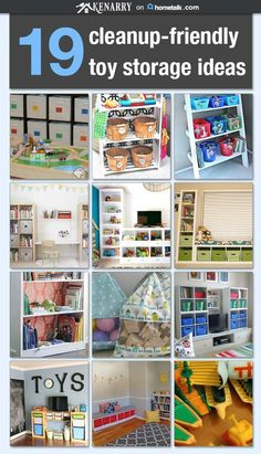 Tripping over toys in your home? These incredible toy storage and organization ideas will have them cleaned up in no time! Tripping over toys in your home? These incredible toy storage and organization ideas will have them cleaned up in no time! Kids Storage, Toy Storage, Storage Shelving, Cheap Storage, Basement Storage, Garage Storage, Playroom Storage, Storage Ideas, Shelves