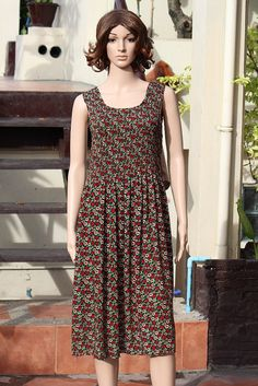 Beautiful Floral Printed Casual Sleeveless Pleated Long Dress $12.00 USD Only 1 available  https://www.etsy.com/listing/192404286/beautiful-floral-printed-casual?ref=shop_home_active_20  https://www.facebook.com/pages/Savvy-Ladies/796694807024977