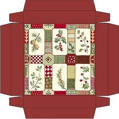 Christmas box patterns