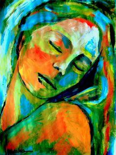 """Saatchi Online Artist: Helena Wierzbicki; Acrylic, 2012, Painting """"""""Emotional healing"""""""""""