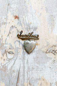 vintage sweetheart locket pin