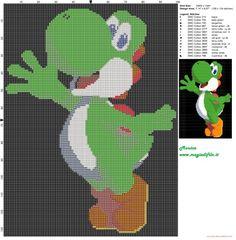 Yoshi (Super Mario) grille point de croix