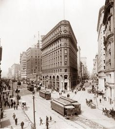San Francisco, CA was taken in 1912. It shows the Crocker Building on the corner of Post and Market Streets. I like the view of the street cars.
