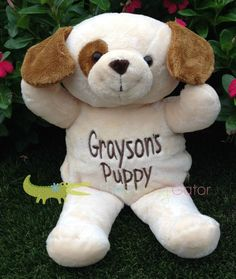 Monogrammed Stuffed Animal Puppy Dog  by sassygatormonograms, $29.95
