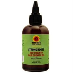 Tropic Isle Living Jamaican Strong Roots Red Pimento Hair Growth Oil, 4 oz (Pack of 2)