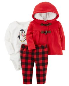 d89514b610 Baby Girl 3-Piece Little Jacket Set