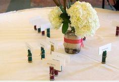 Shotgun shell wedding escort card holder by ItsADucksLife on Etsy, $25.00