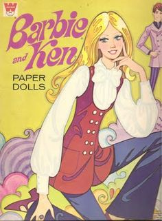 I had one like this (wait I still have it lol) Mostly Paper Dolls: KEN Paper Doll - 1970