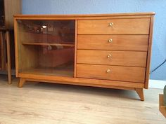 For Sale- Mid century Northwest Chair Co. solid maple buffet / credenza/ media console. In excellent condition. Solid brass handles and amazing wood grain. Dovetail joinery and hardwood construction.