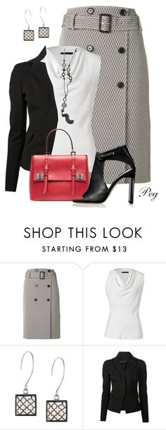 """Pencil Skirt"" by derniers ❤ liked on Polyvore featuring Jason Wu, Donna Karan, Prada and Reed Krakoff"