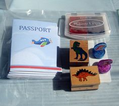 Passports for an airplane-themed birthday party