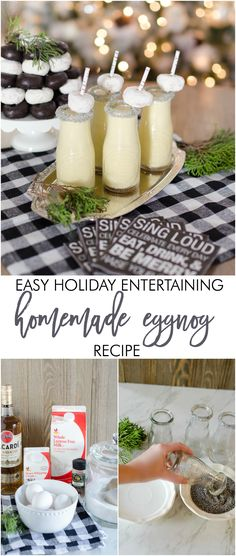 Holiday Entertaining for $25 or Less: Homemade Eggnog Recipe & Sweets Party - Home Stories A to Z