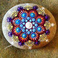 My latest stone #P4MirandaPitrone #stoneismycanvas #etsy #handpainted #paint #rockpainting #paintedstones #paintingrocks #art #studiotime #mandalas #dots #love #star #flower #blue #coastaldecor #colorfullife #pop #stones #pebbles #beach #photo #etsyscout #etsyshop #handmade #hello #etsyshop #etsyseller #boho #style