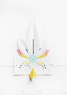 Ta.Ta. Unconventional Design For Kids: PAPER MASKS (By Naomi Cedille, Lucille Michieli and Agathe Boudin.)