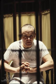 """Anthony Hopkins as Hannibal Lecter. """"I ate his liver with some fava beans and a nice chianti."""""""