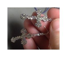Bead Patterns Boutique - Gothic Cross Earrings