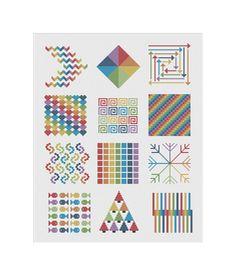 Cross Stitch Pattern Geometric Rainbow PDF DMC by KnitSewMake