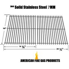 STAINLESS STEEL COOKING GRID FOR DUCANE 3100, 3200, 3073101, AFFINITY 3100, 31421001, AFINITY 3200, AFFINITY 3300, AFFINITY 3400, AFFINITY 4100, 4100, AFFINITY 4200, AFFINITY 4400 GAS GRILL MODELS, SET OF 2