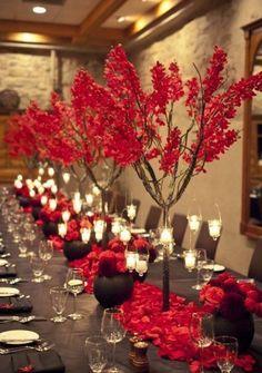 60 Striking Red And Grey Wedding Ideas | HappyWedd.com