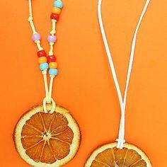 Dried Orange Slice Pendants For Tu B'Shevat